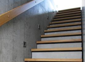 Eichenstufen Treppe Sichtbeton team201